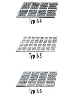 Cleaneo® Akustik gerade Quadratlochung Q-Typ B4, B5, B6