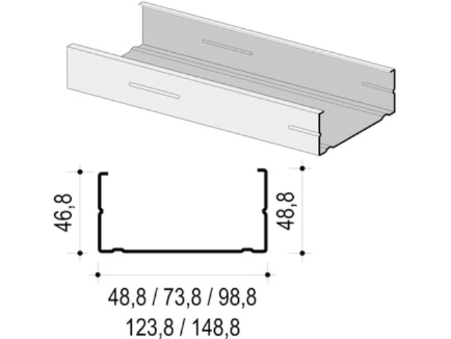 CW-Profil 50 x 50 x 0,7 mm