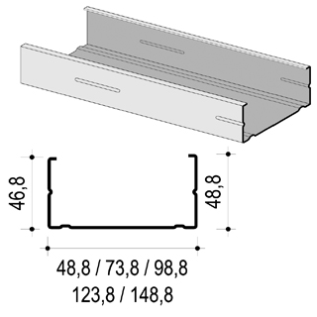 CW-Profil 75 x 50 x 0,7 mm