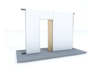 Zargenlose Türlaibung für Pocket Kit - Glastürblatt