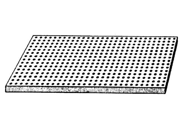 Cleaneo SK — Gelochte Gipsplatte für Schallabsorption gerade Rundlochung