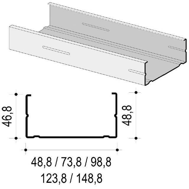 Artikelbild KNA CW-Profil C3 100x50x0,6mm