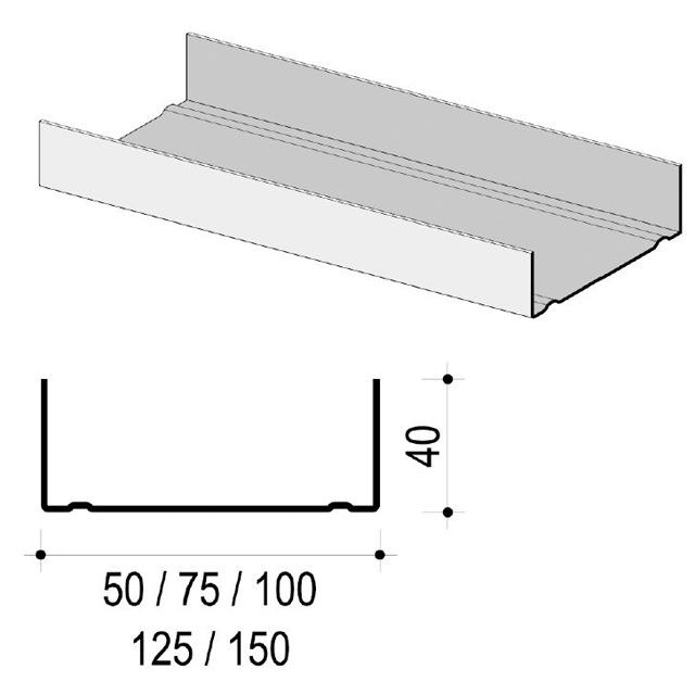 Artikelbild KNA UW-Profil C3 75x40x0,6mm