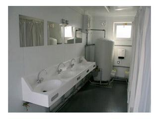 Zusatzausstattungen Sanitärcontainer