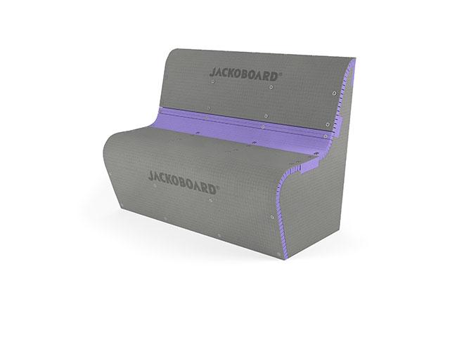 JACKOBOARD® S-Kit 2 Sitzbank rund mit Lehne