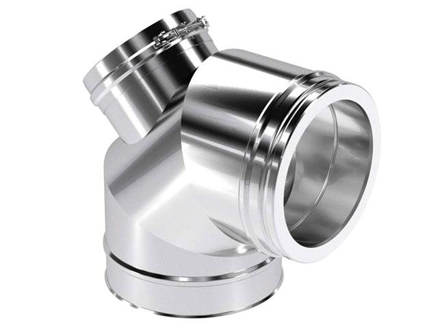 Bogen 85° mit Revisionsverschluss für Festbrennstoff
