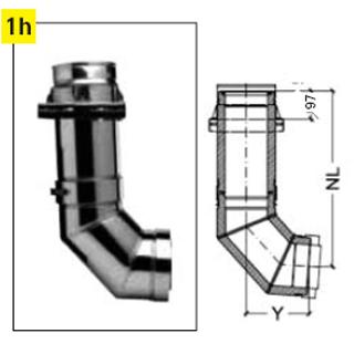 SET-Wandkonsole + Bogen 85°