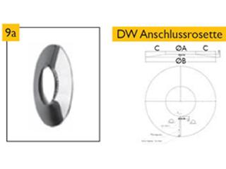 Anschlussrosette DW schmal (T20)