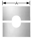 Abdeckblende geteilt 31°- 45°