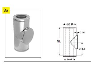 Putzstück rund für Festbrennstoff