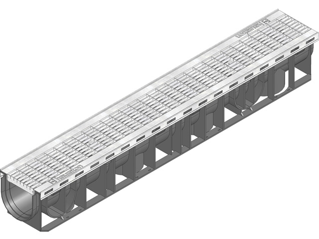RECYFIX® PLUS 100, Kombiartikel, PKW-befahrbar, mit Gitterrost