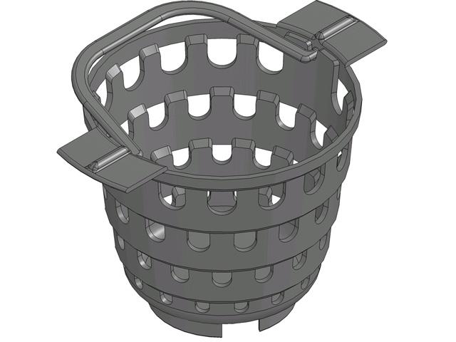 RECYFIX®PRO 150, Schmutzfangeimer Kunststoff