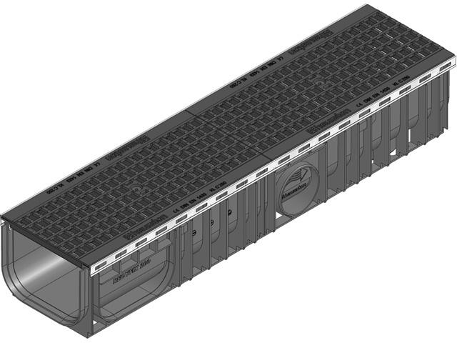 RECYFIX® PLUS 200, Kombiartikel, Klasse C 250, mit GUGI-Guss- Gitterrost