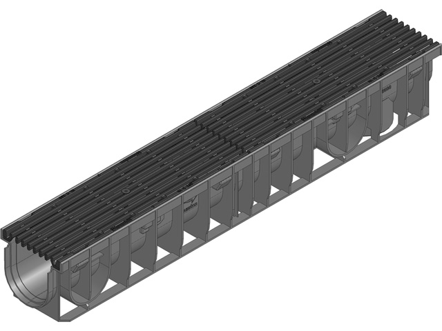RECYFIX® PRO 100 Kombiartikel, Klasse C 250, Guss-Längsstabrost