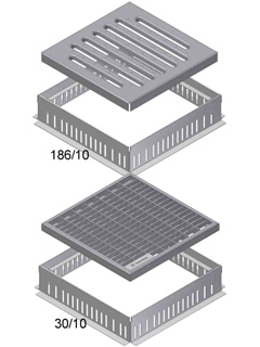 DACHFIX® POINT Typ 1, fixe Bauhöhe 60 mm, 250 x 250 mm