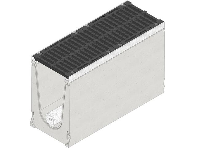 DRAINFIX® CLEAN 300, mit verzinkter Zarge, Gussrost Kl. D 400