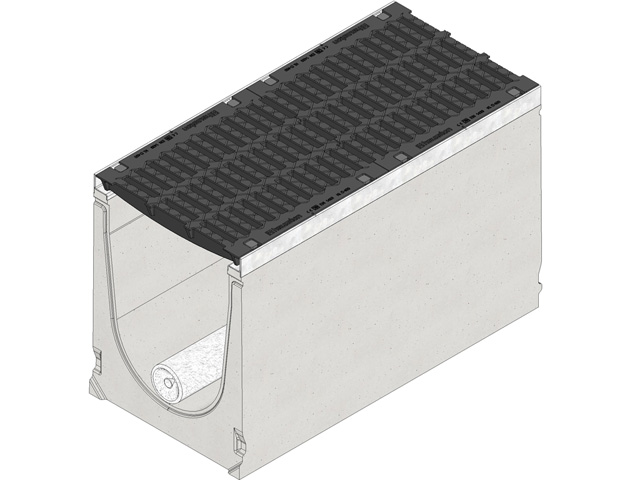 DRAINFIX® CLEAN 400, mit verzinkter Zarge, Gussrost Kl. D 400