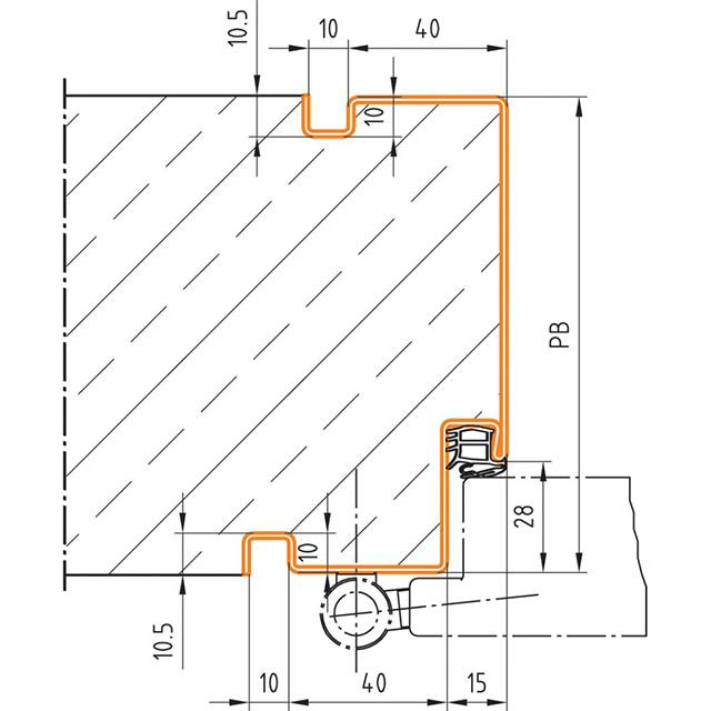 Normzargen Profil 48 für Schalungsbauweise