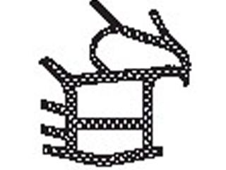 Zargendichtung für UNIVERSAL Türelement 1 flg. ohne Feuerschutzanforderung (grau)