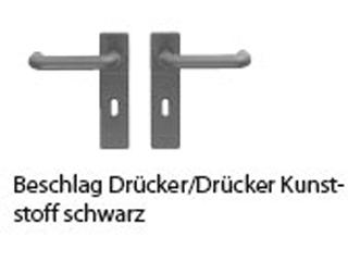 Kurzschild, Kunststoff schwarz, PZ, U-Form inkl. Buntbarteinsatz, Dorn 8,5 mm