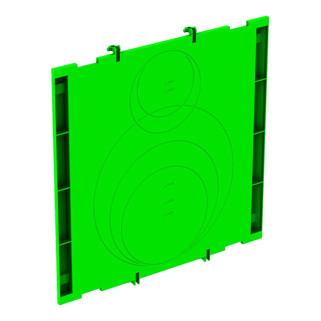 Seitenplatte aus PP für Rohranschlüsse