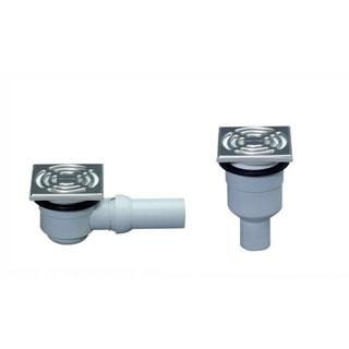 Ablaufgarnitur mit Edelstahlrost für PVC-/Linoleum+ Gummibelägen