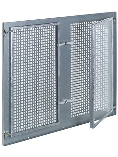 Stahlfenstereinsatz Gitterflügel feststehend, zweiflügelig