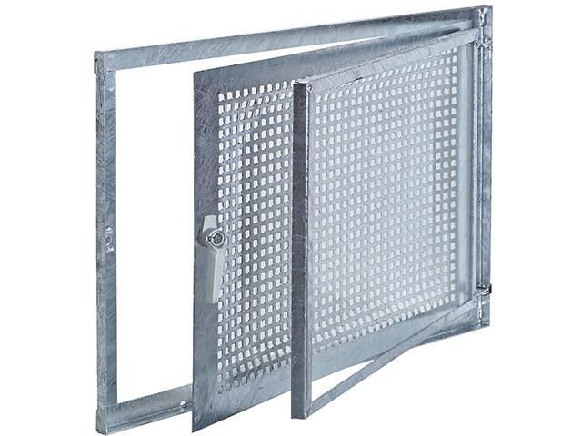 Stahlfenstereinsatz Gitterflügel drehbar, Einflügelig, DIN R
