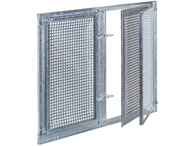 Stahlfenstereinsatz Gitterflügel drehbar, Zweiflügelig