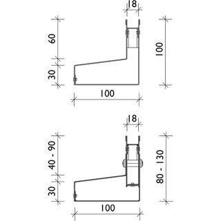 Rinnenkörper asymmetrisch – Materialstärke 1,00 mm