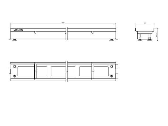 Rinnenkörper mit offenem Boden – Materialstärke 1,50 mm