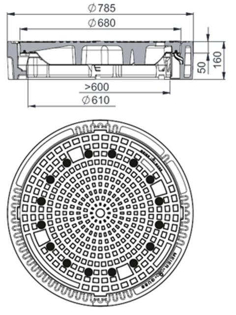 Rahmen: Gusseisen | Deckel:  Gusseisen