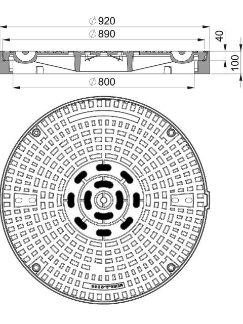 Rahmen: Gusseisen hochziehbar | Deckel: Gusseisen