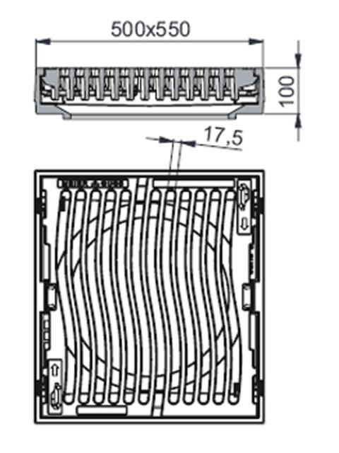 Rahmen: Gusseisen   Rost: Gusseisen System MEILINE®