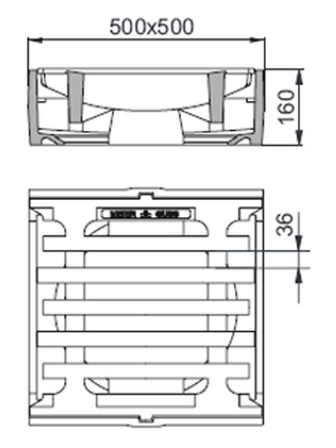 Rahmen: Gusseisen DIN 19583-1 | Rost: Gusseisen