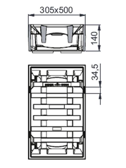 Rahmen: Gusseisen | Rost: Gusseisen | Klasse C 250