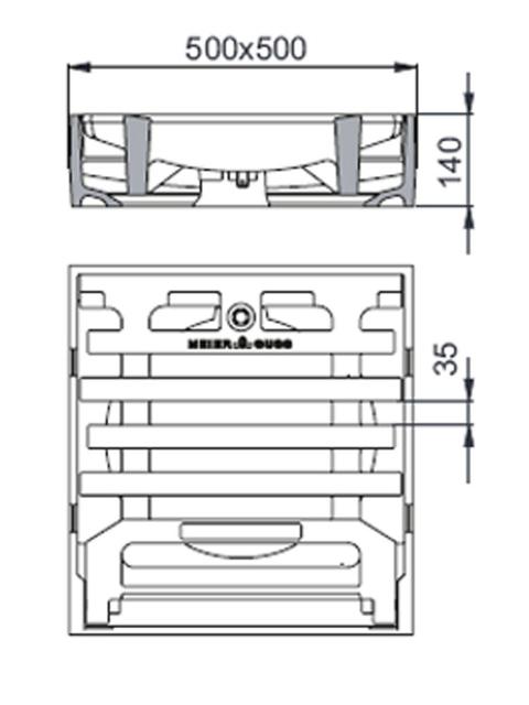 Rahmen: Gusseisen   Rost: Gusseisen    Klasse F 900