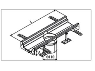 Rinnenelemente mit Ablaufstutzen (OD 110 mm) mittig, 500 und 1000 mm
