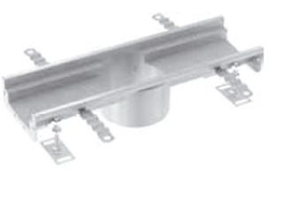 Rinnenelemente mit Ablaufstutzen (OD 142 mm) mittig