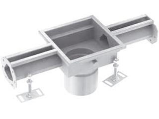 Rinnenelemente mit Ablaufstutzen (OD 110 mm) mittig
