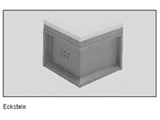 Elastic Randstein-Winkelstück, schwarz, weiß