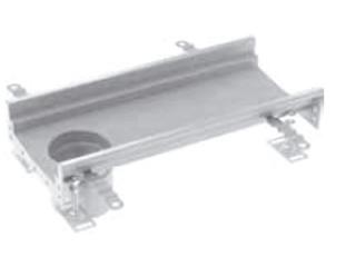Rinnenelemente mit Ablaufstutzen (OD 110 mm) am Ende