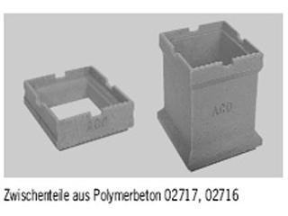 Zwischenteil aus Polymerbeton