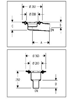 Ablaufkörper Unterteil DN 100/125/150