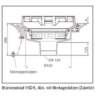 Multitop Brückenablauf HSD 5, Klasse D 400