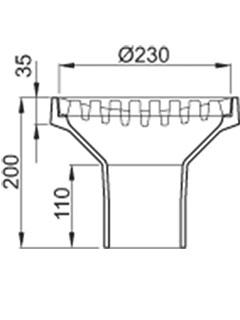 Bodenablauf DN 150 - ohne Geruchsverschluss