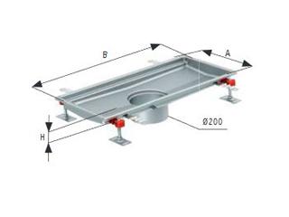 Bodenwannen 218 FHD – passend zu Bodenabläufen 218 FHD– Typ Standard
