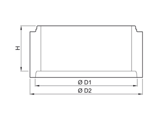 Schachtring mit Muffe mit Dichtring nach DIN 4034 Teil 1 (ohne Steigeisen)