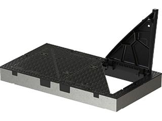 Trigona Beton-Guss-Rahmen, vierteilig