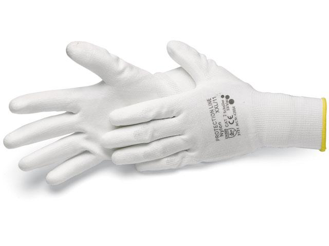 Handschuhe, Nylon weiß